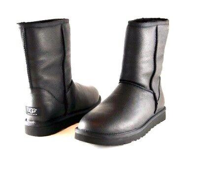 baf51e7adbfa UGG Classic Short Black Leather Winter Snow Boots 17 Mens