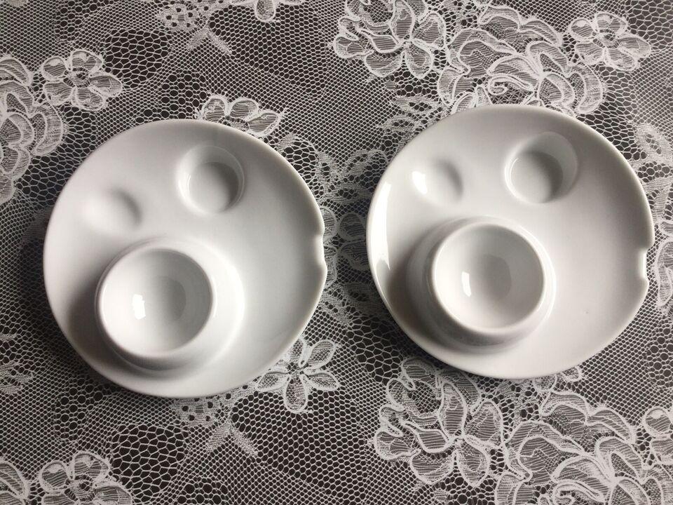 Porcelæn, Æggebæger, Hvid