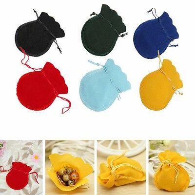 10/30/50/100PCs 9x7cm Velvet Drawstring Pouches Coin Jewelry Wedding Gift Bag