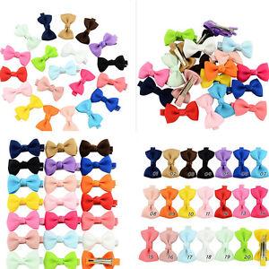 20Pcs-Hair-Bows-Band-Boutique-Alligator-Clip-Grosgrain-Ribbon-Girls-Baby-Kids-RU