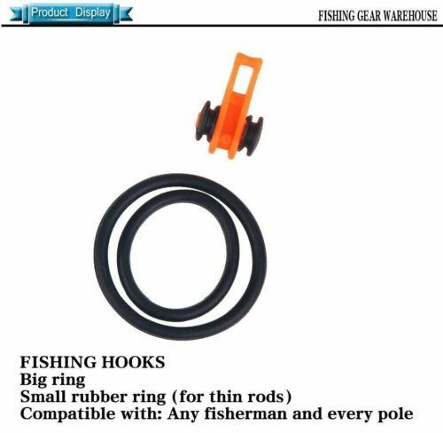 10pcs Fishing Rod Pole Hook Keeper Lure Bait Safety Fishing  Holder Tackle tools