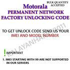 Motorola Permanent Network Unlock Code Service For MT810LX