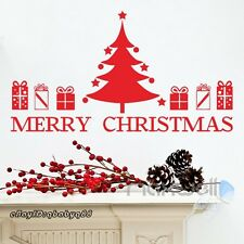 Huge Christmas Tree Gifts Party Decor Wall Decals Window Stickers Kids Art Mural