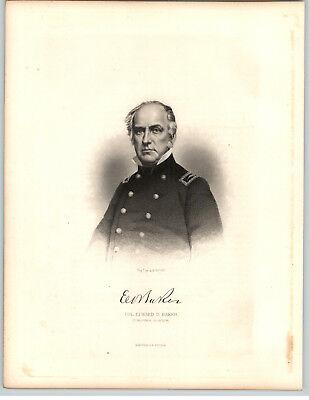 1861 Historical Steel Engravings 5 Pg Bio Edward D Baker Colonel Mexican Civil