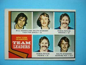 1974-75-O-PEE-CHEE-NHL-HOCKEY-CARD-233-DENIS-POTVIN-ROOKIE-LEADERS-EX-EX-OPC