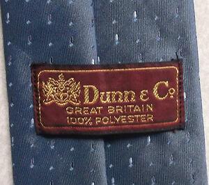 Vintage Cravate Dunn & Co Homme Cravate Rétro Fashion Brillant Foncé Bleu Crépuscule-afficher Le Titre D'origine