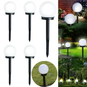 Inground LED Globe Ball Lights Outdoor Garden Yard Path Night Lamp Solar Powered  eBay