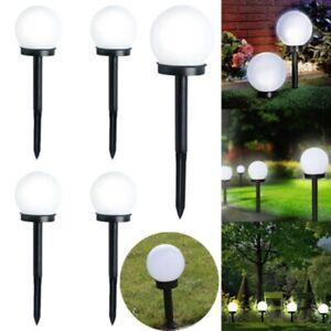 Inground LED Globe Ball Lights Outdoor Garden Yard Path Night Lamp Solar Powered eBay