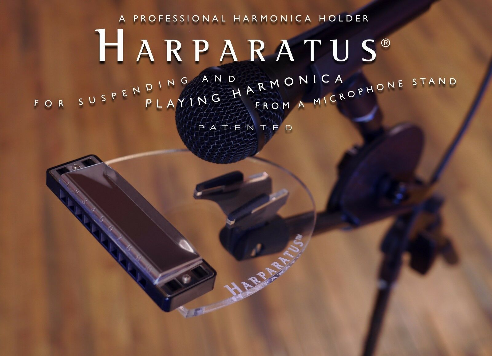 Harparatus Professional Mic Stand Harp Harmonica Holder - The Original  est 2001