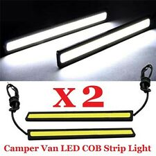 2 x 14cm LED STRIP LIGHT BAR 12v WHITE CAMPER VAN BUS VW LT35 LT46 T4 T5 PROJECT