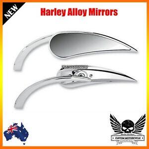 Chrome-claw-rear-view-Mirror-RAD-II-mini-Teardrop-Harley-dyna-softail-vrod-glide