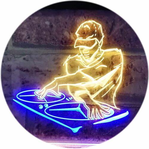 DJ Disc Jockey Disco Music Bar Beer Dual Color LED Neon Sign st6-i0817