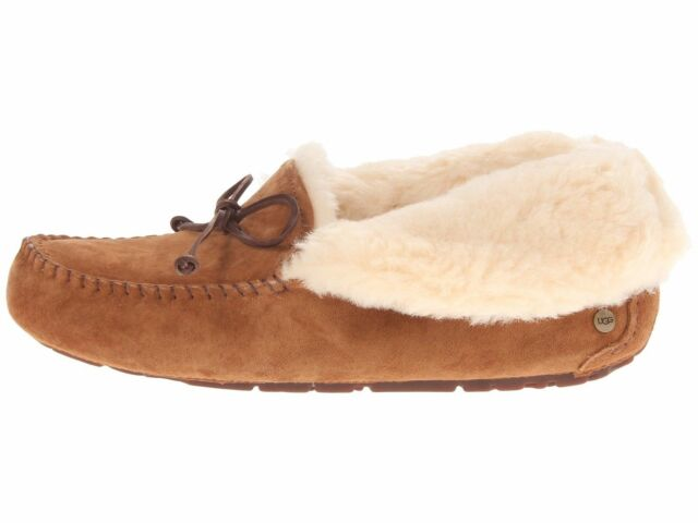 4a95f29f48b UGG Alena Chestnut Women's Suede Moccasin Slippers 1004806