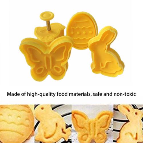 4Pcs Cute Easter Eggs Bunny Cartoon Cake Mold Fondant Cookie Cutter Set