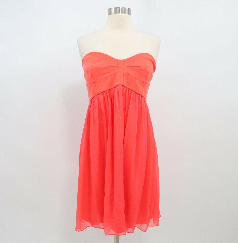 DvF Diane Von Furstenberg Dress damen NEW 100% Silk Sz 12 Coral rot Asti Short