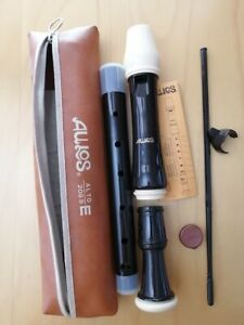 Aulos-209B-E-Alto-Recorder-Good-Condition