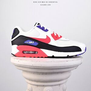 Details about Nike Air Max 90 Essential Raptors Men Lifestyle Shoes New White Red AJ1285 106