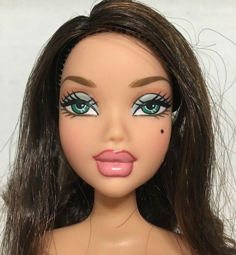 Barbie My Scene Sporty Glam Delancey Doll Raven Dark Ponytail Hair Rare