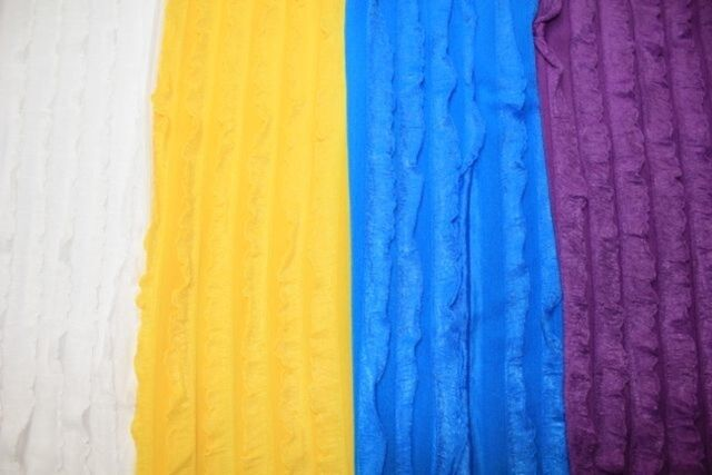Ruffle Knit Fabric 95% Polyester 5% Spandex Lycra Stretch 4 Colors BTY Skirt
