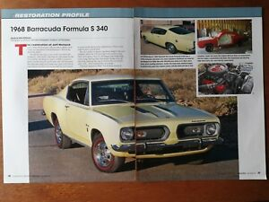 Image Is Loading 1968 Plymouth Barracuda Formula S 340 Original 5