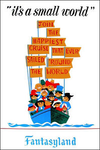 Disneyland-It-039-s-A-Small-World-Poster-Disney-Buy-Any-2-Get-1-Free