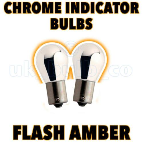 2 x Chrome Indicator Bulbs 581 offset pin BMW 3 Series Compact E46 o