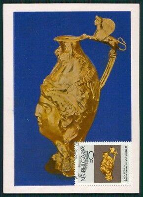100% Wahr Bulgarien Mk 1966 Goldschatz Panagyurishte Tresor Gold Maximumkarte Mc Cm Bz75