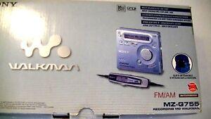 VINTAGE-SONY-MD-MINIDISC-WALKMAN-RECORDER-MZ-G755-with-AM-FM-radio