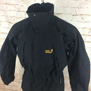 Jacket Sz Jack Goretex Wolfskin Black Unisex Xcr Medium Rain Small qOIFS6w