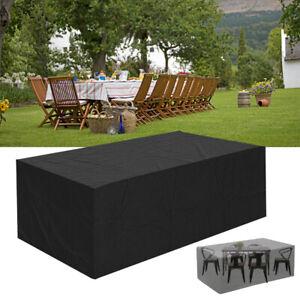 XXL-Table-de-Jardin-Housse-Protection-Bache-325x208x58cm-Garniture-Meubles