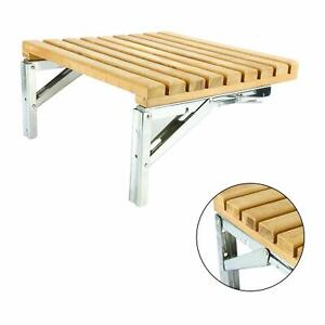 Details About Folding Shower Bench Teak Shower Seat Bathtub Chair Wall Mount Safety Seat Life