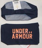 Under Armour Women's Midnight Navy/afterglow Ua Graphic Wide Headband Sz Os