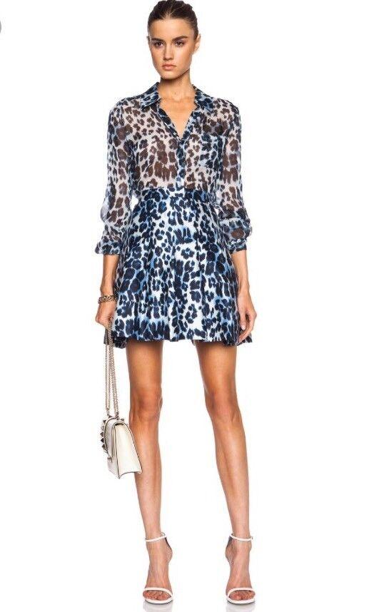 NWT Diane von Furstenberg Gemma Cheetah Print Skirt A-line Size 6 Small  428