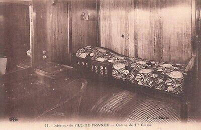 Preciso Carte Postale Marine Bateau Paquebot Ile De France Cabine De 1 ère Classe