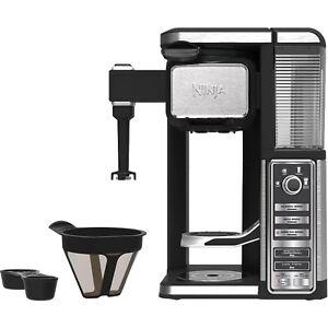 Ninja Single Serve Coffee Bar Machine Pod Free Auto IQ Coffee Maker with Frother