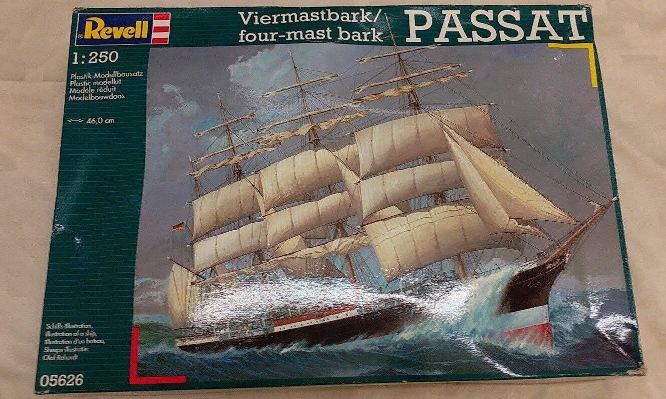 REVELL 1 250 PASSAT Four-Mast Bark Model Ship Kit SEALED IN BAG