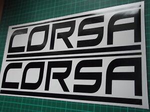 CORSA panel skirt car vinyl sticker decal x2