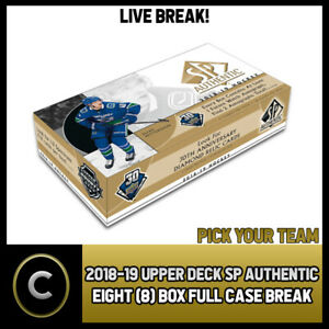 2018-19-UPPER-DECK-SP-AUTHENTIC-8-BOX-FULL-CASE-BREAK-H382-PICK-YOUR-TEAM