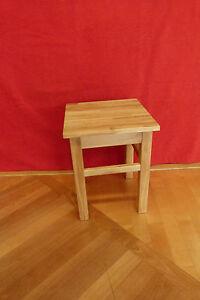 1bf1f6dae25fdb Das Bild wird geladen Hocker-Eiche -massiv-Kuechenhocker-Beistellhocker-Holzhocker-Sitzhocker-Nachttisch