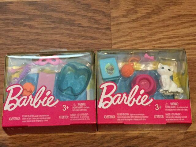 Barbie Doll Accessory KITTEN Puppy TACO Tech Laptop SPA 5 Pack FHY68 FHY69 FHY70
