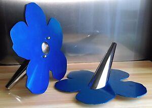 """Rationnel Paire De Vases Soliflores Design Fabrice Berrux """" Flower Andy Warhol """""""