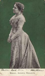 1907-VINTAGE-MDLLE-ANTONIA-DOLORES-POSTCARD-FAIR-Cond-sent-to-Wellington-NSW