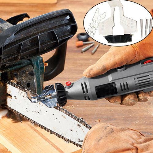 Chain Saw Sharpening Tool Attachment Running Power Drill Hand Sharpener Adapter