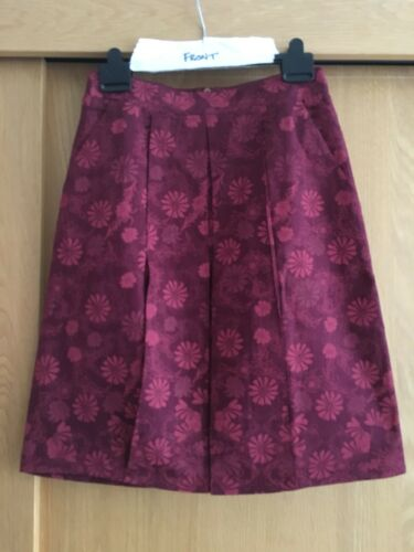 Size 10 Ness Ladies Red Tapestry Floral Midi Skirt New RRP £44.99