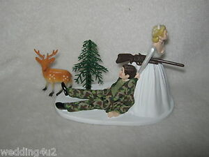 Wedding Reception Party ~Buck Deer Camo Hunter~ Hunting Cake Topper Redneck