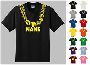 Gold Chain Custom Personalized Name Metallic Print Hip Hop Adult ...