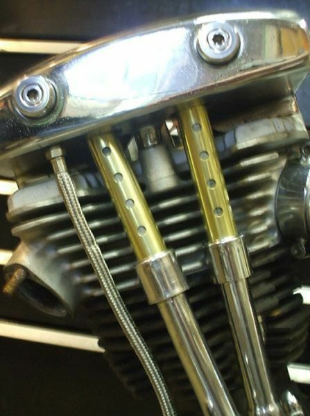Pushrod Stößel Cover 'Old STF', Messing, für Harley - Davidson Shovel BT 40 - 99
