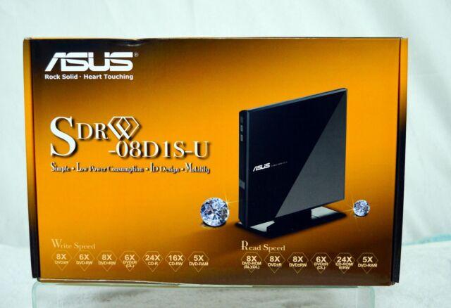 ASUS SDR-08D1S-U Portable External DVD CD Re-Writer  NIB
