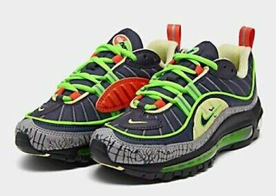 Nike Air Max 98 Halloween Gridiron Black Navy GS CT1171-001 Size 6.5Y | eBay