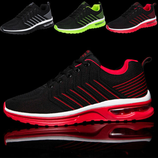 Men's Athletic Air Cushion Sneakers Running Breathable Casual Tennis Gym Shoes